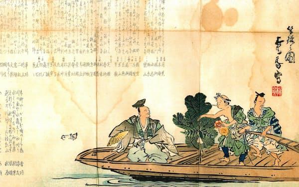 新春を祝う句が載った春興大刷物(1906年、雪中庵作成)