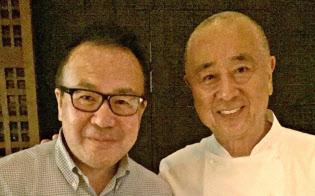 著名日本人シェフの松久氏(右)と林氏
