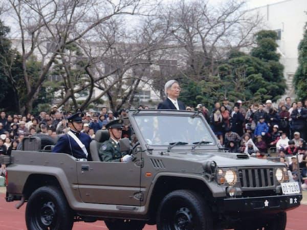 防衛大学校の式典で(神奈川県横須賀市)
