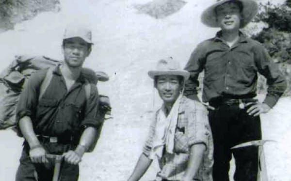 大学ワンゲル部の仲間と北アルプス剣岳で(左が筆者)