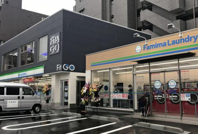 コンビニにコインランドリーとスポーツジムを併設した(東京都大田区)