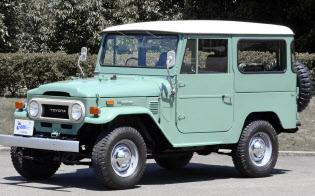 トヨタのランドクルーザーのような車の市場は年々拡大していた(1974年式)=トヨタ自動車提供