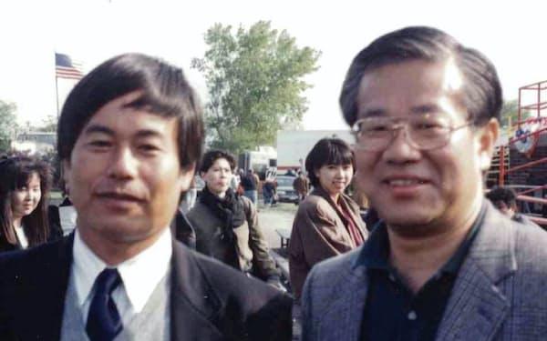 遠征してきた宿沢君(左)と(米シカゴで)