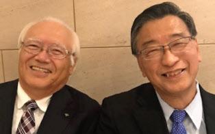 トヨタ車体相談役の網岡氏(左)は伊原氏が最も尊敬する先輩の1人だ