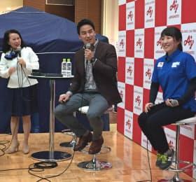 競泳の松田丈志さんらによるイベントも