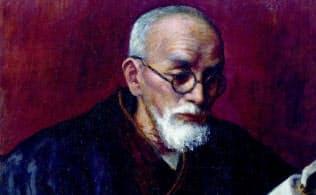 田辺松坡の肖像画(1943年、逗子開成学園所蔵)