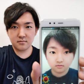 スナップチャット、ARで利用急増 顔写真の男女が転換 :日本経済新聞