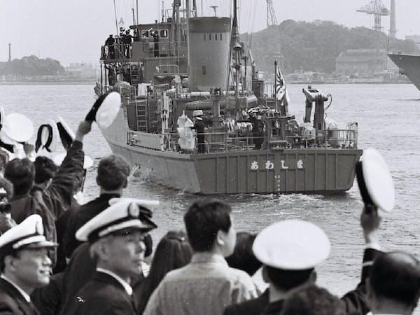 戦闘終結後には自衛隊の掃海艇を出した