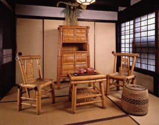 河井寛次郎「竹製家具」