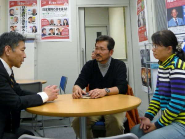 堀川さん夫婦は学習塾の立ち上げについてエフビズを訪れた
