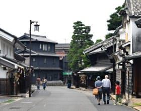 古い町並みが評価され、文化庁から日本遺産に認定された