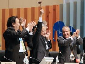 名古屋議定書を採択した生物多様性条約第10回締約国会議(COP10)
