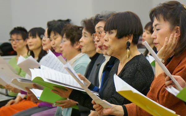 神楽坂女声合唱団の練習風景