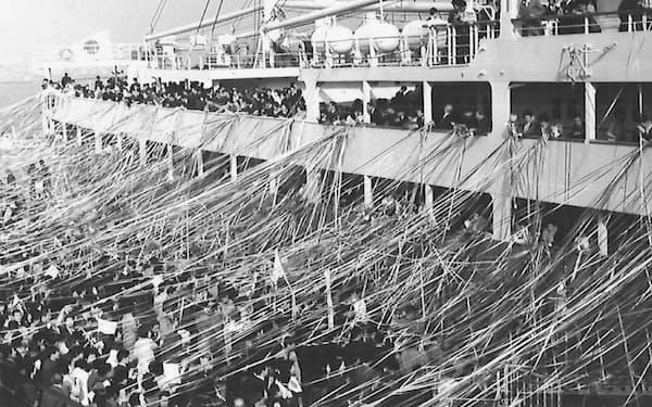 「あるぜんちな丸」で横浜港から出発(1967年3月)