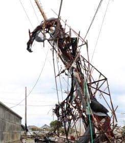東電HDは停電復旧の見通しを何度も修正した(9月、千葉県南房総市)