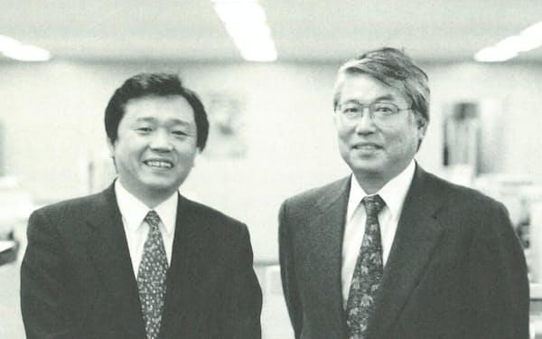 深瀬弘恭さん(左)と筆者(1998年ごろ)