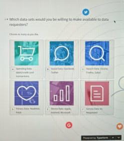 データクープにウェブから加入する画面では自分のデータの提供先を選べる