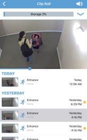 玄関につけたカメラの映像がいつでもスマホで見られる