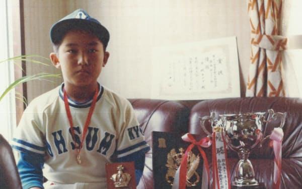 野球が好きだった少年時代。ホームラン王だった