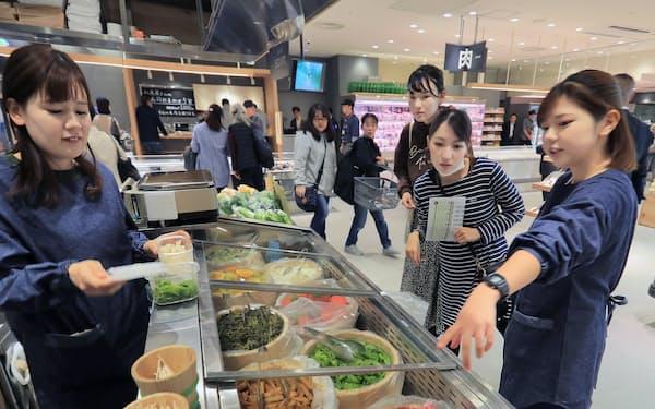 京野菜の漬物も(京都山科店)