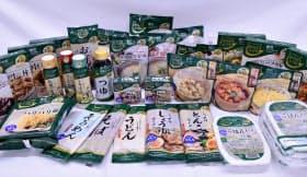麺やスープ、調味料など幅広い商品を展開