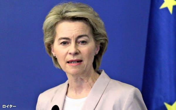 EUのフォンデアライエン新委員長は「グリーンディール」を政策指針に掲げる=ロイター