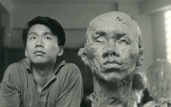 隈部滋子が筆者をモデルに制作した塑像