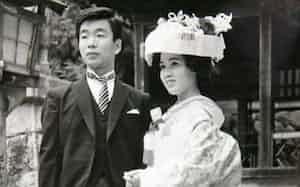 1968年に妻のかずえと結婚した(三重県伊賀市)