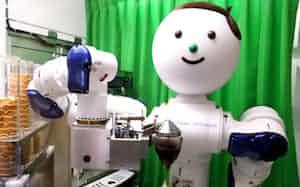 ソフトクリームを作る双腕ロボット「やすかわくん」は開発目的を明示する象徴