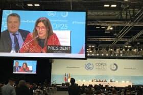 COP25では石炭火力発電を続ける日本に国際社会から批判が相次いだ(マドリード)
