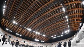 有明体操競技場は東京五輪の新設会場で最も多く木材を使用している(東京都江東区)