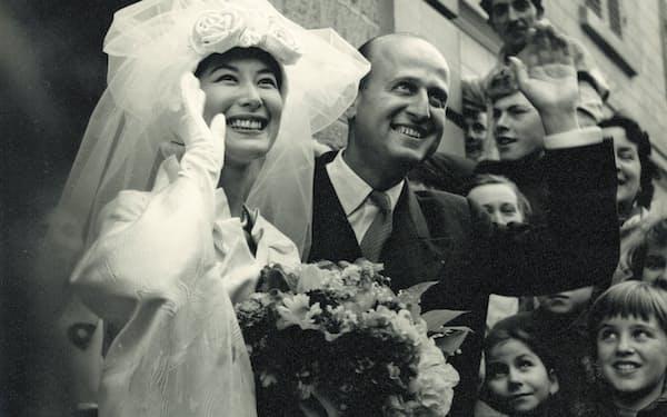 イヴ・シァンピとの結婚式