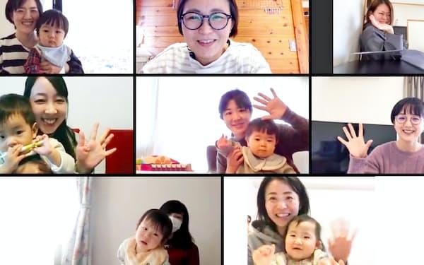 子育て講座を開く「ママガク」のオンライン講座に参加する人も