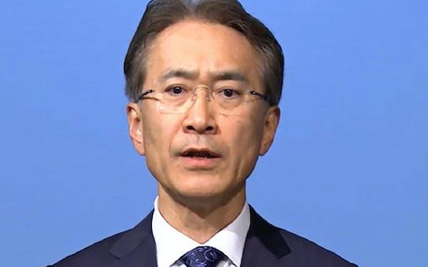 ソニーの吉田憲一郎会長兼社長は長期視点に基づく経営の重要性を強調した(5月19日の経営方針説明会)