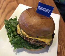 インポッシブル・フーズの代替肉を使ったハンバーガー