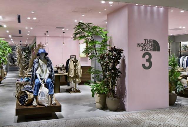 ザ・ノース・フェイスの女性向け店舗は2店目だ(横浜市)