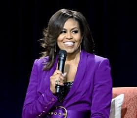 ミシェル・オバマ前米大統領夫人もポッドキャストで独自番組をスタートした=AP