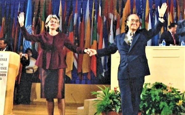 後任の事務局長に当選したイリナ・ボコバ氏と