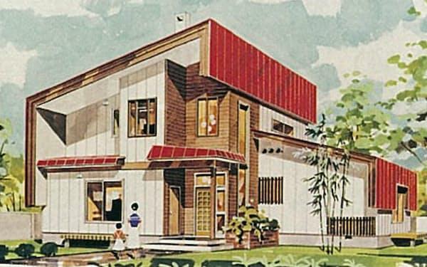 札幌駅前の展示場に出展したモデルハウス第1号のパース
