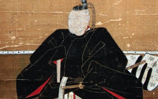 土井利勝肖像画(部分、古河市正定寺所蔵)。史料から分かるのは非凡な人間像だ
