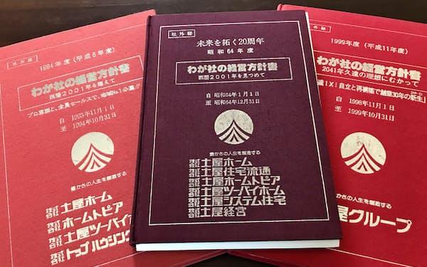 「わが社の経営方針書」は土屋ホーム設立直後から始めた