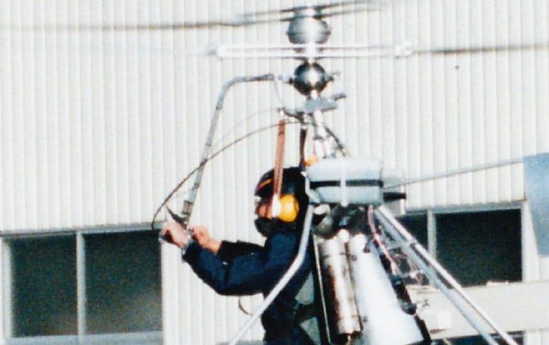 初浮上した「BDH―2」。BDHはボーイズ・ドリーム・ヘリコプターの略