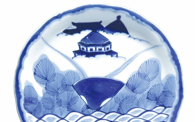 「蜃気楼」を描いた江戸絵皿