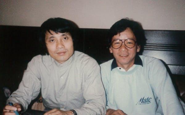 欧州ツアーでは講師の安藤忠雄さん(左)と語らった