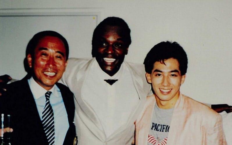 「ビッグ・リバー」の真田広之(右)、ロン・リチャードソンと