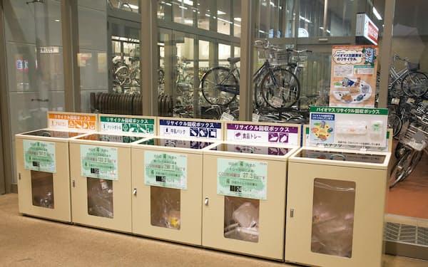 イオングループは店舗に設置した回収ボックスなどで容器原料のリサイクルを進める