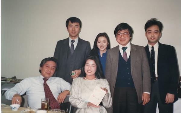 モトローラ事業の同僚と(左端が筆者)