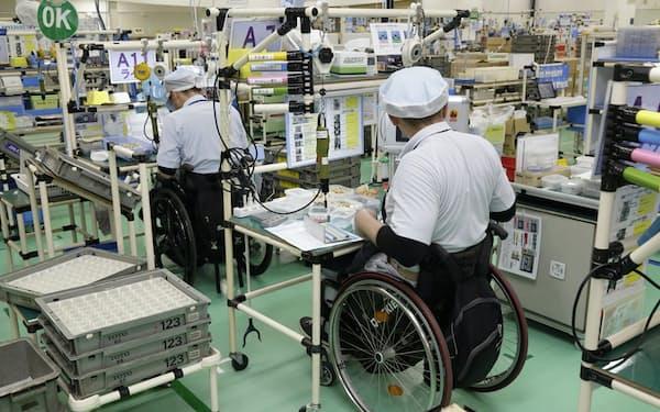 人の能力を引き出すサンアクアTOTOの工場