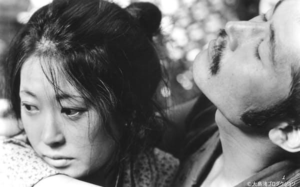 1978年公開の映画「愛の亡霊」で藤竜也さんと(C)大島渚プロダクション