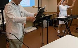 旭川医療センターは音楽療法を実施する(現在は休止中、内島さん提供)